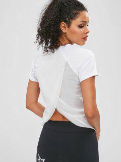 Tulpe-Rücken-T-Shirt Mit Mesh-Einsatz - Weiß L