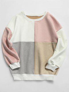 ZAFUL Sweat-Shirt En Daim Et En Blocs De Couleurs  - Multi-e M