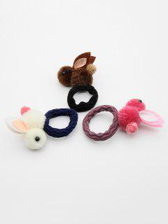 3 Pcs Cute Rabbit Elastic Hairband - Multi-b