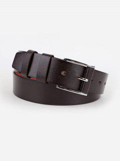 Pin Buckle Casual Faux Leather Belt - Coffee