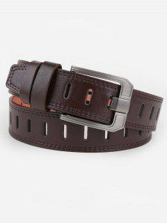 Retro Hollow Out Faux Leather Waist Belt - Coffee