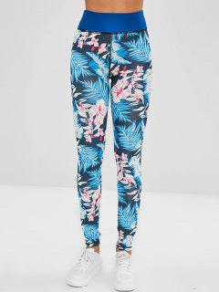 Floral Layering Leggings - Multi-a Xl