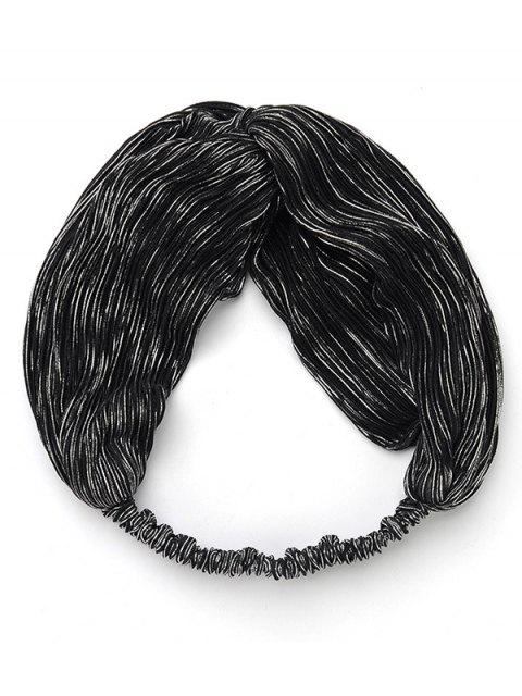 fashion Boho Style Solid Color Hairband - SILVER  Mobile
