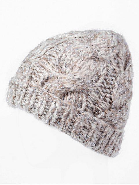 outfits Winter Thicken Knitting Ski Cap - LIGHT KHAKI REGULAR Mobile