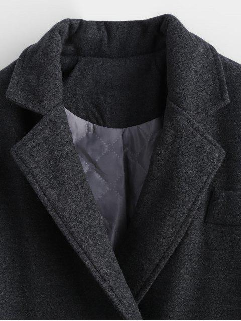 fashion Faux Wool Double Breasted Masculine Coat - CARBON GRAY M Mobile