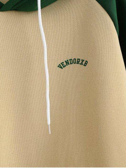 shop Fleece Lined Front Pocket Baseball Hoodie - MULTI-A 2XL Mobile