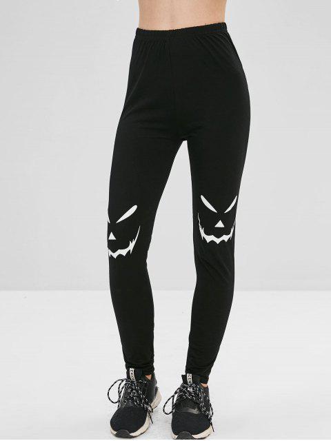 trendy Layering Graphic Leggings - BLACK S Mobile