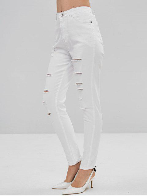shops Destroyed Skinny Pants - WHITE L Mobile