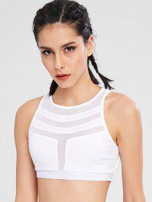 شبكة إدراج Bralette شعرية الصدرية - أبيض Xl