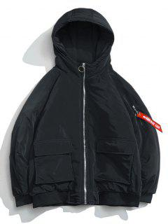 Winter Pocket Padded Jacket - Black 3xl