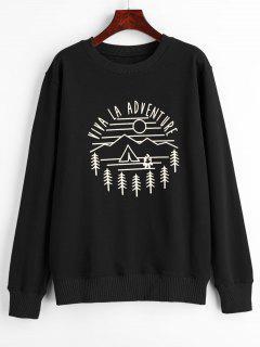 Viva La Adventure Graphic Sweatshirt - Black M