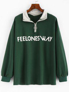 Feel Ones Way - Sweatshirt Mit Reißverschluss - Grün