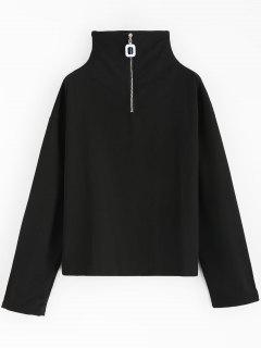 Hardware Half Zip Sweatshirt - Black