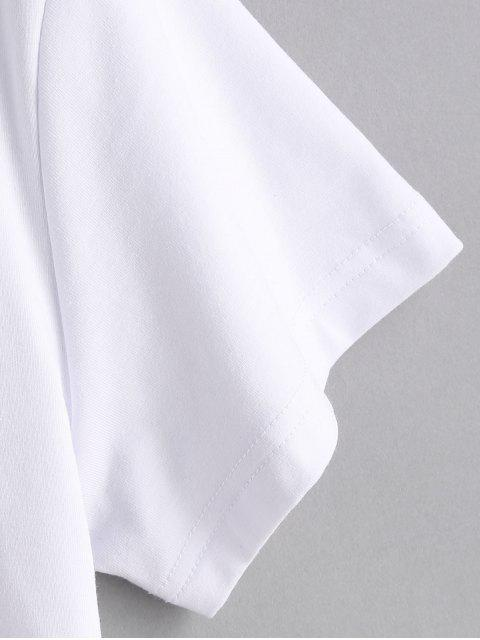 affordable Chest Graphic Tee - WHITE XL Mobile