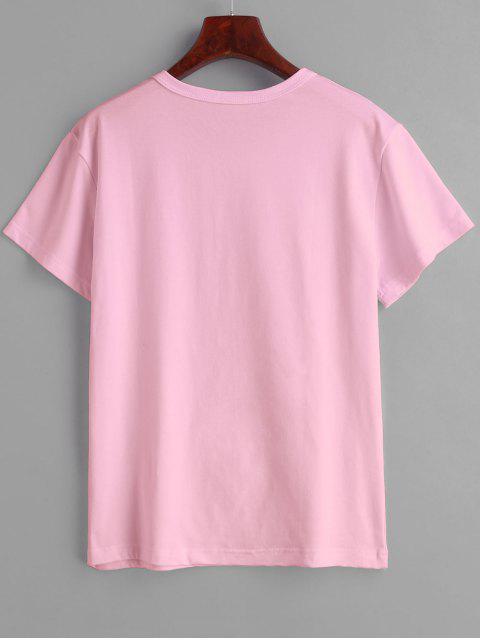 ハリースタイルは私のボーイフレンドグラフィックティーです - ピンク M Mobile