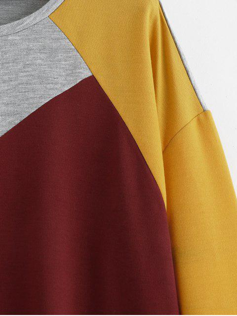 Sweat-shirt en Blocs de Couleurs à Goutte Epaule - Multi S Mobile