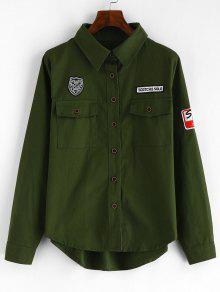 قميص جيب أمامي - الجيش الأخضر M