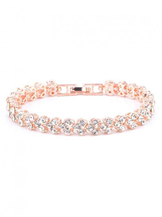 buy Multiple Rhinestone Alloy Bracelet - ROSE GOLD