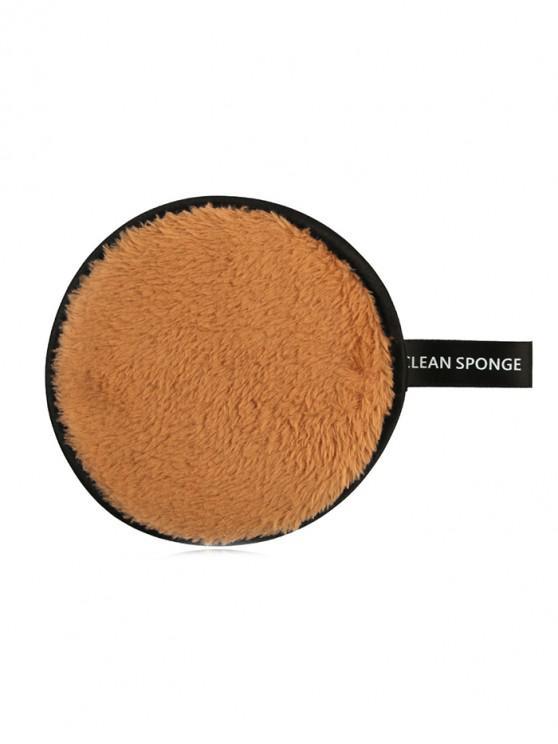 online Makeup Remover Soft Cotton Cleansing Powder Puff - TIGER ORANGE