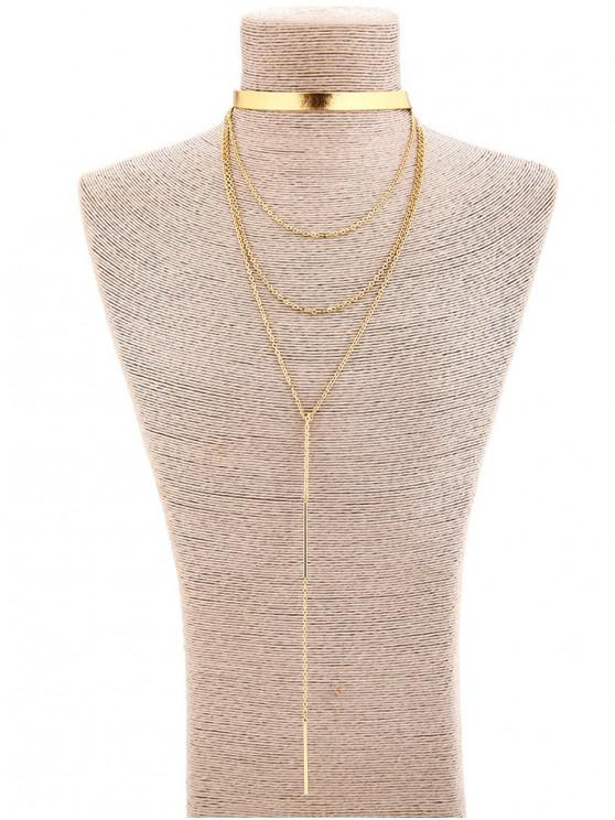 new Alloy Tassel Long Pendant Necklace - GOLD