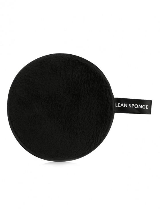 shops Makeup Remover Soft Cotton Cleansing Powder Puff - BLACK