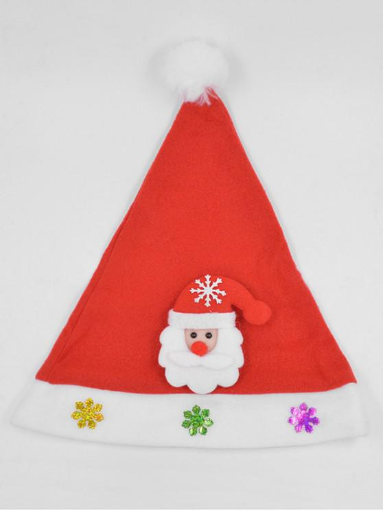 c5297a51fb33f 13% OFF  2019 Santa Claus Snowflake Party Hat In LAVA RED