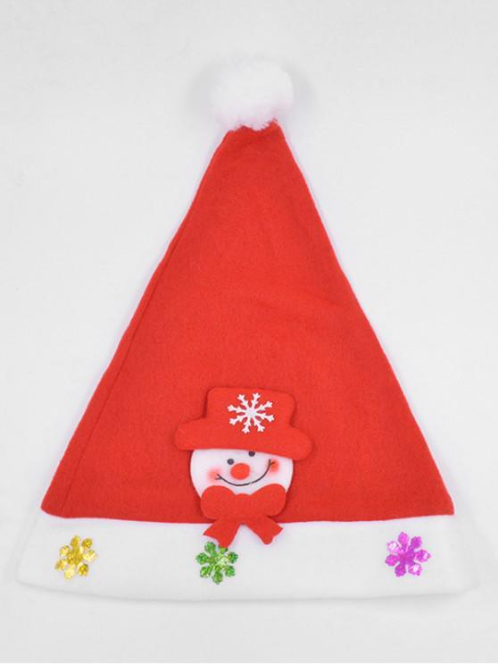 Christmas Snowman Snowflake Party Hat - الحمم الحمراء