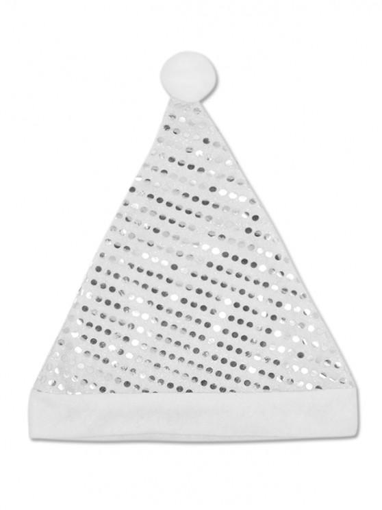 Shiny Sequins Christmas Hat - فضة