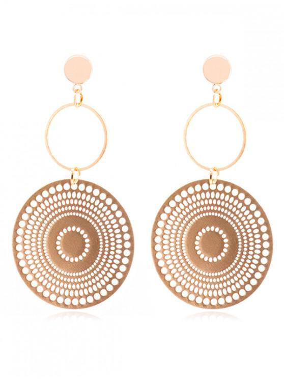 Geometric Round Shape Hollow Earrings GOLD