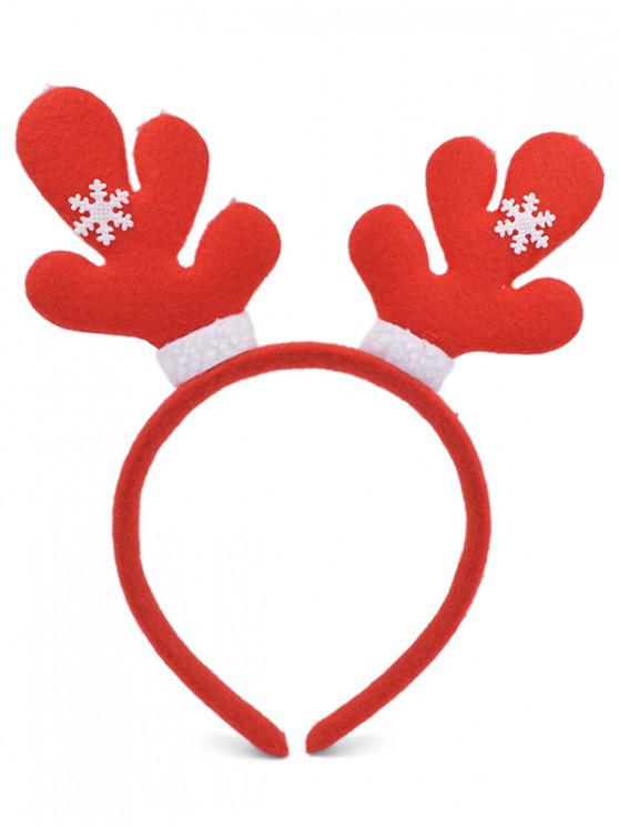 Cerceau de Cheveux de Soirée de Noël Flocon de Neige - Rouge Lave