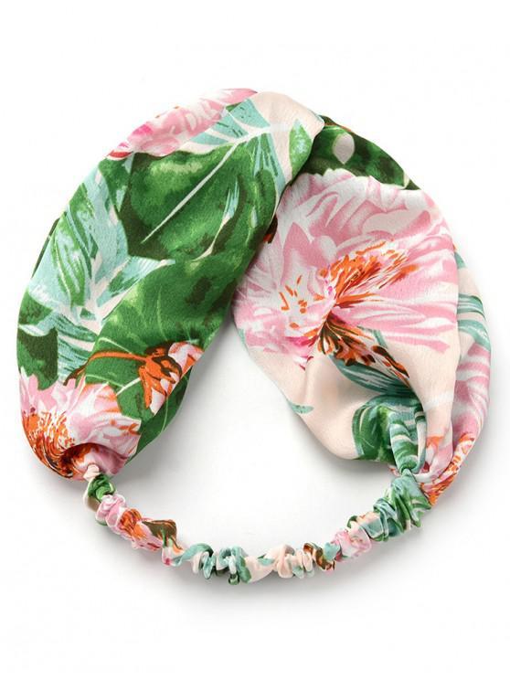unique Fresh Floral Embellished Elastic Headband - PINK