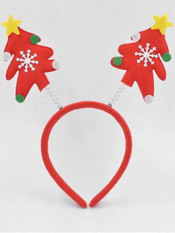 ladies Christmas Tree Party Decoration Hair Hoop - LAVA RED