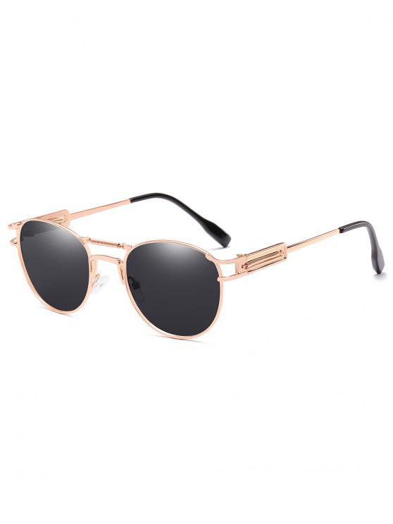 lady Crossbar Metal Frame Driving Sunglasses - NATURAL BLACK