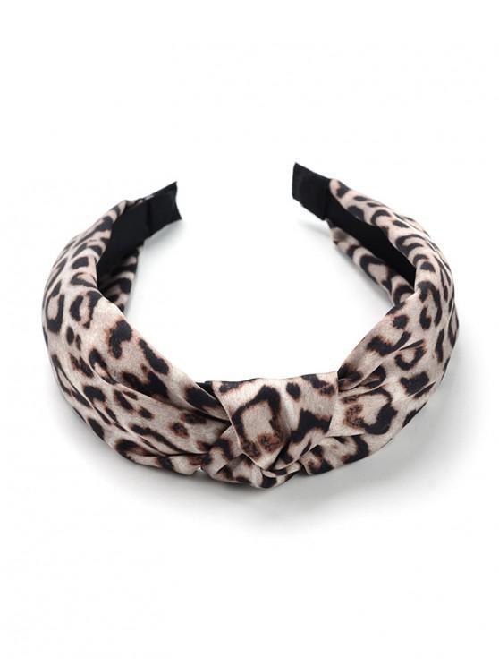 trendy Vintage Leopard Print Knot Hair Hoop - LEOPARD