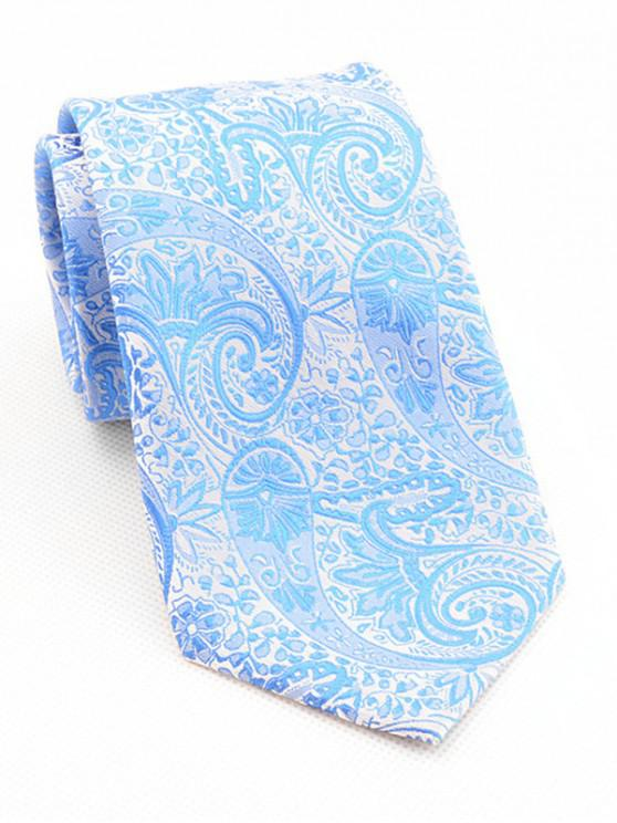 latest Elegant Floral Print Neck Tie - SKY BLUE