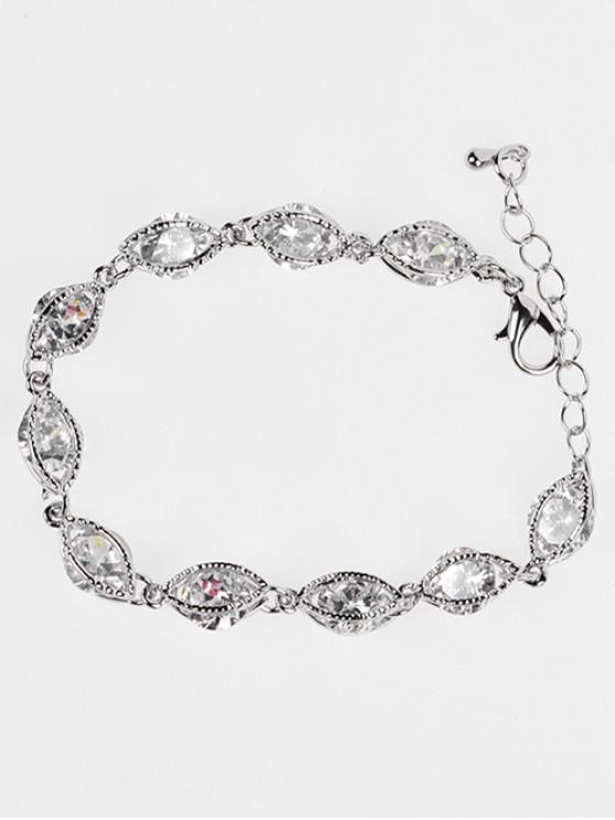 chic Simple Zircon Adjustable Bracelet - SILVER