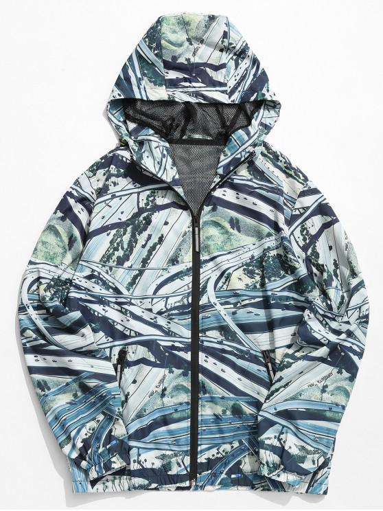 Overpass Highway Print chaqueta ligera - Multicolor-A M