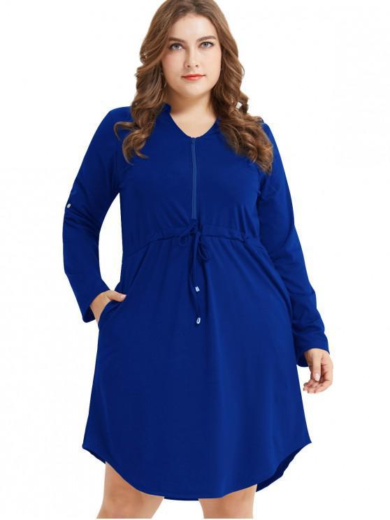 Long Sleeve Cobalt Dress
