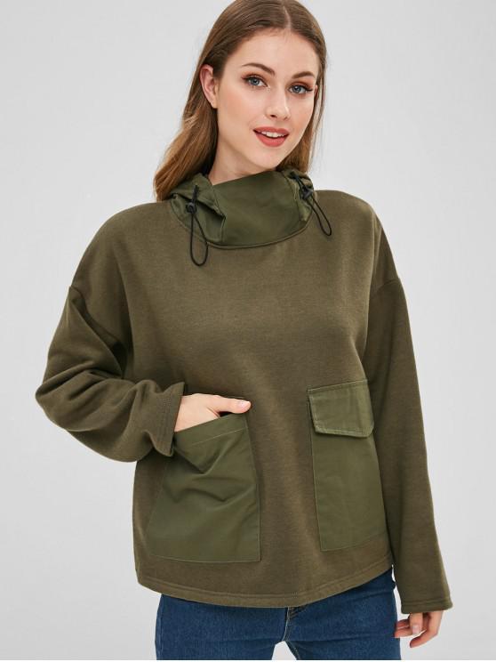 Bolsillos delanteros con capucha de lana - Ejercito Verde M