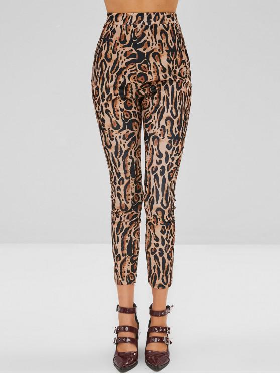 lady Leopard Ponte Pants - LEOPARD M