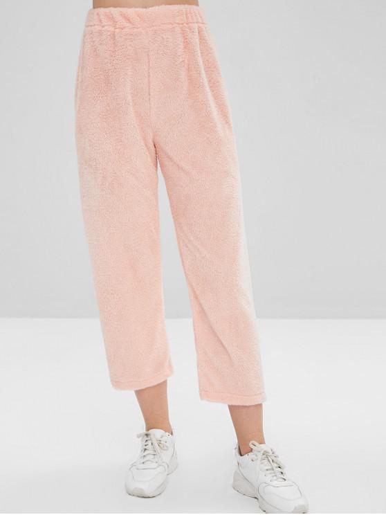 Calças de salão de lã - Rosa Laranja M