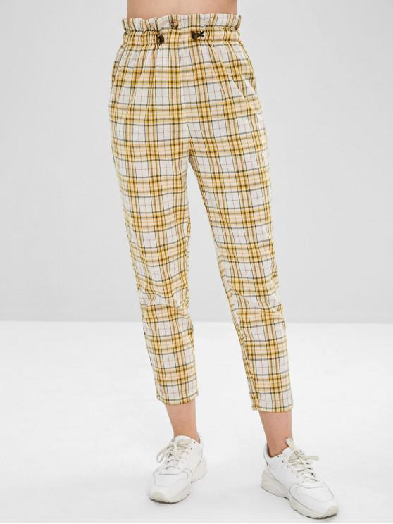 new Ninth Straight Plaid Pants - MULTI S