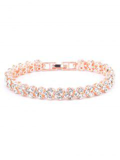 Multiple Rhinestone Alloy Bracelet - Rose Gold