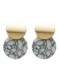 Tophus Pattern Round Metal Earrings - Smokey Gray