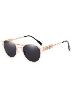 Crossbar Metal Frame Driving Sunglasses - Natural Black