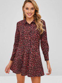 Leopard Shirt Dress - Multi M