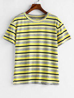 Gestreiftes T-Shirt Mit Kurzen Ärmeln - Goldrute S