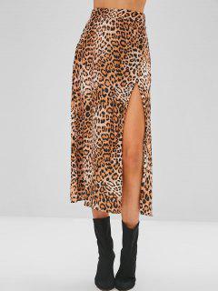 Falda De Leopardo Con Abertura Alta - Leopardo M