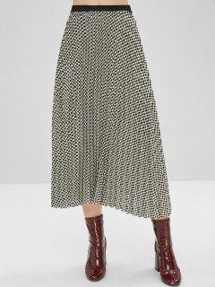 Checkered Pleated Skirt - Multi-a S