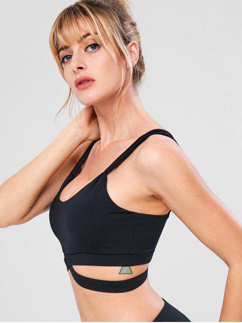Sport aushöhlen Gym Yoga BH - Schwarz S Mobile
